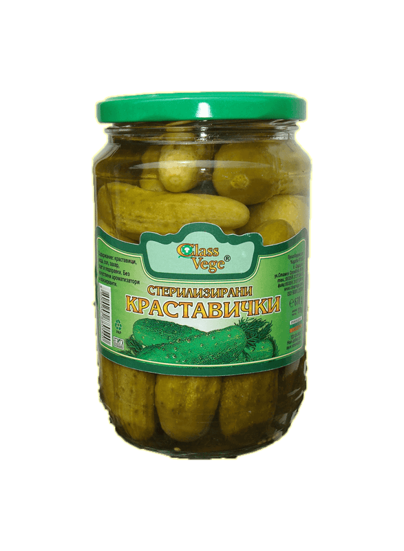 Sterilized cucumbers - 670g